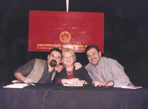 Junto a Marcelo Di Marco y Delia Pasini en el CC Rojas.