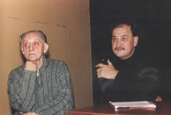 Junto al editor José Luis Mangieri, en San Telmo.