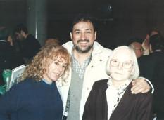 Junto a las poetas Amelia Biagioni y Malena Cirasa, en Rosario.