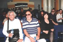 Con Julio Salgado y la poeta danesa Pía Tafdrup, en Lima, Perú.