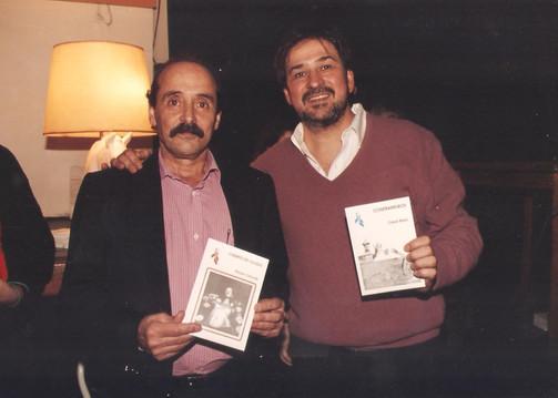Junto al poeta Rubén Chihade