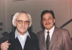 Junto al poeta Hugo Padeletti, en San Telmo.