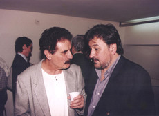 Con el poeta Roberto Sánchez.