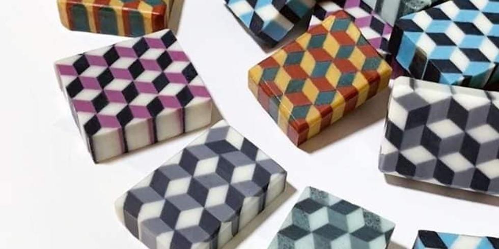 【ON213D】3D幾何皂VS馬賽克皂 by 南和月老師