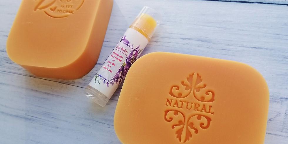 【2106-1C2】油我皂起一  - 金黃沙棘修復皂及護唇膏