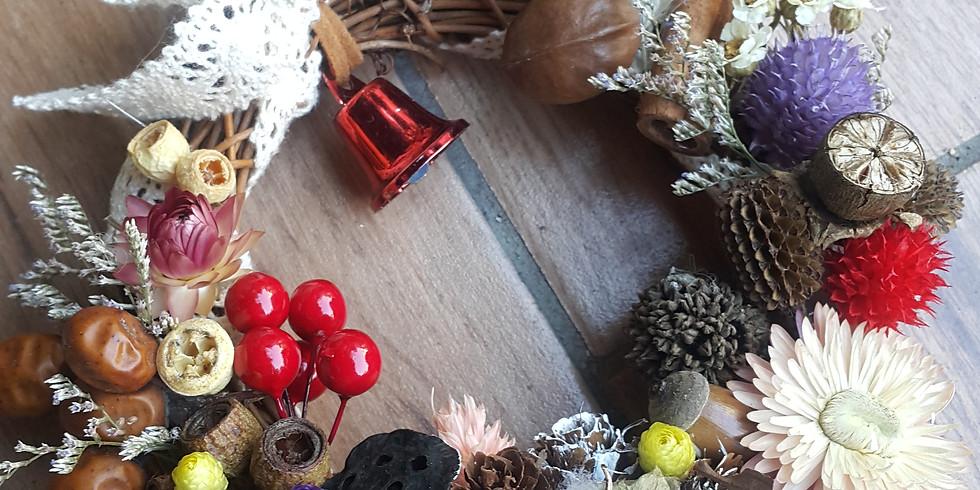 D1班:乾燥聖誕花圈與小花樹工作坊 by 孟孟老師