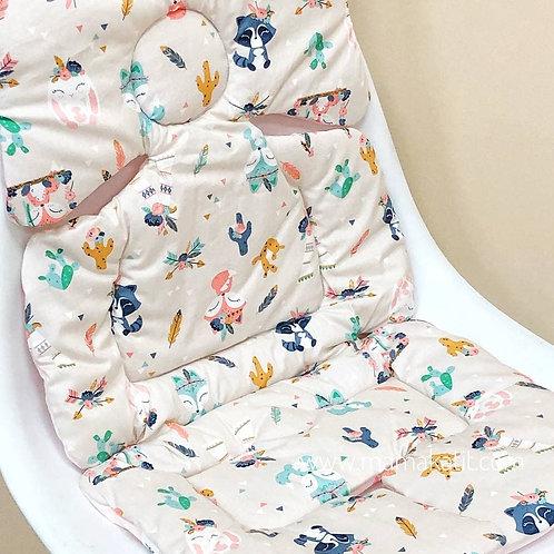 Двусторонний матрасик в прогулочную коляску Baby Eco Decor, лисята