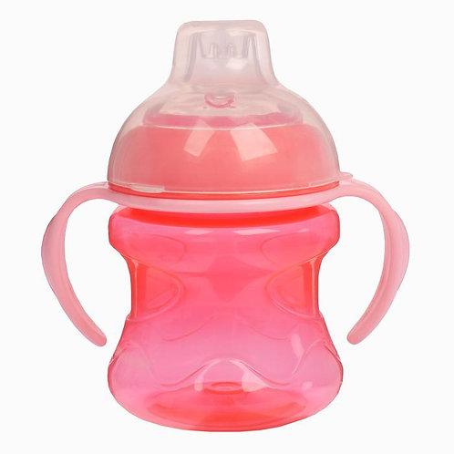 Поильник детский с мягким носиком, 250 мл, от 5 мес., цвет розовый