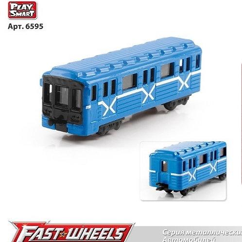 Поезд метал. М1:64. на блист. 12*15*5 см.
