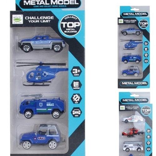 Транспорт метал. (4 шт. в упак.), в/к 11,6*3,9*30 см.