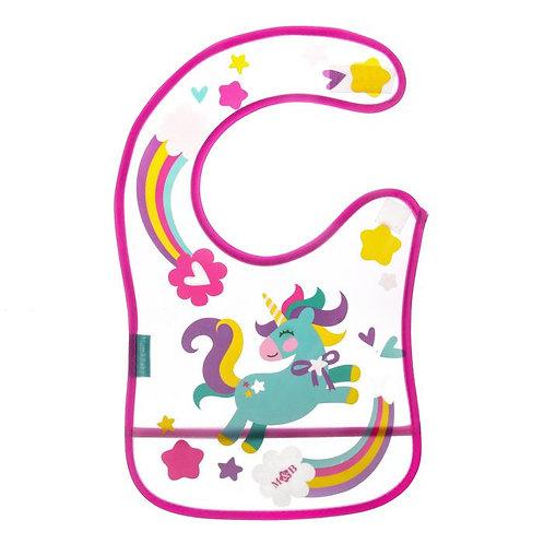 Нагрудник непромокаемый «Доченька», с карманом, на липучке, цвет МИКС