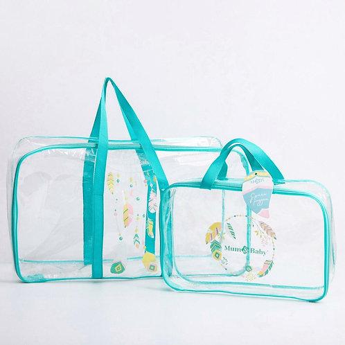 Комплект сумок в роддом 2 шт., бирюзовый