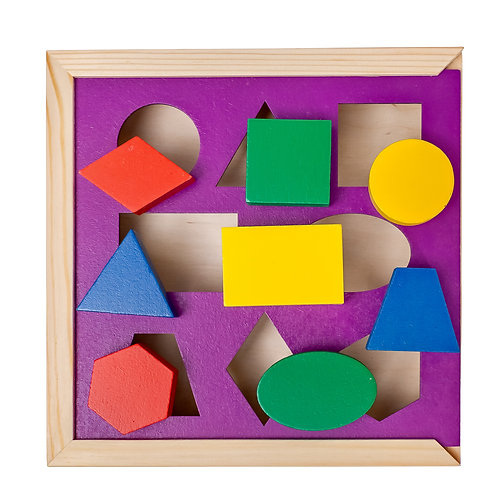 "Сортер ""Геометрия"", размер: 21 х 21 х 4,5 см."
