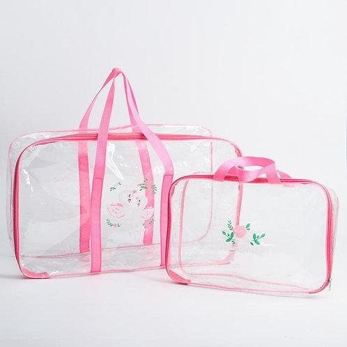 Комплект сумок в роддом 2 шт., розовый