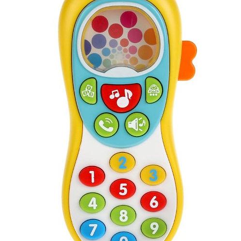 Телефон развив. на бат. 3 режима игры: весёлые цифры, учим животных, набирай ном