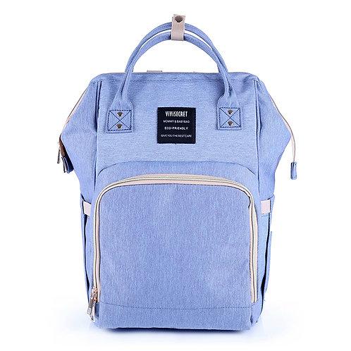 Рюкзак для мамы на коляску, голубой