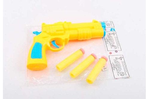 Пистолет стреляющий мягкими патронами, в/п 15*9*2 см.