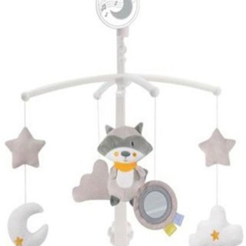 Музыкальная карусель для кроватки заводная, 5 подвесных игрушек, колыбельные мел