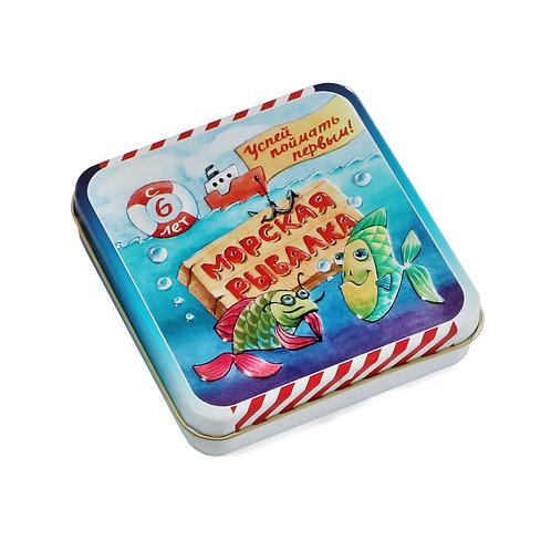 """Игра настольная карточная """"Морская рыбалка"""", 9*9*2 см."""