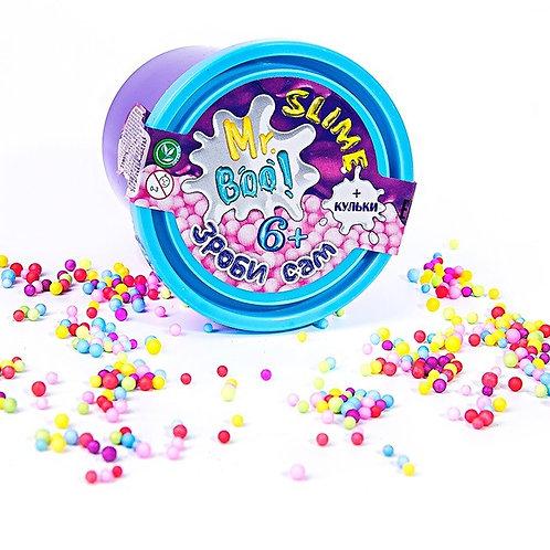 Набор для экспериментов «Сделай сам» Cлайм с шариками TM Mr.Boo в баночке 7,5*5,