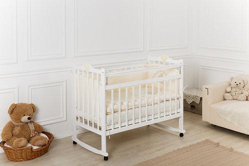 Кроватка Incanto Pali, колесо / качалка, белый