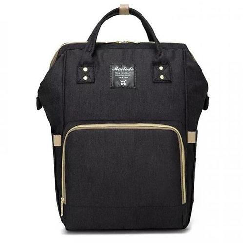 Рюкзак для мамы на коляску, черный
