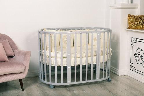 Кроватка Incanto Mimi 7 в 1, серый