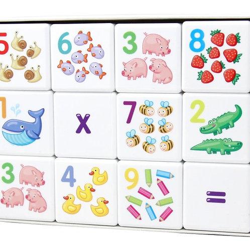"""Кубики """"Кубики для умников. Арифметика"""" 12 шт (без обклейки), в/к 16,5*12,5*4,2"""