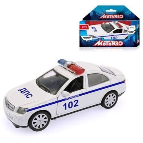 """Машинка металл., 1:34, Motorro, """"Полиция"""", откр. двери, в/к 16,5*11,5*7,5 см"""