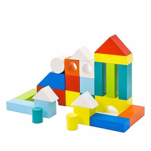 """Конструктор """"Городок"""" окрашенный, в коробке, 26*17,5*3 см."""