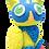 "Thumbnail: Пушистый пластилин ""PLUSH"" набор для лепки синий + желтый 160 г на европодвесе"