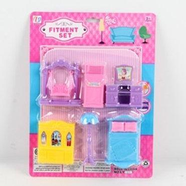 Мебель для кукол, на блистере 21,5*4*28 см.
