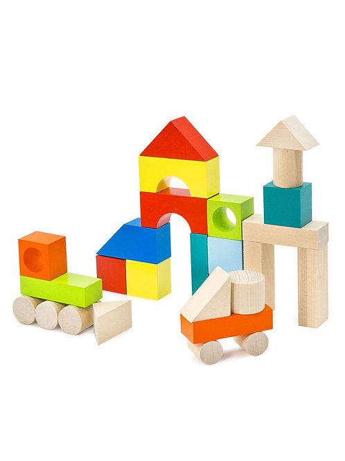 """Конструктор """"Городок"""" 27 деталей, в коробке 26*17,5*3 см."""
