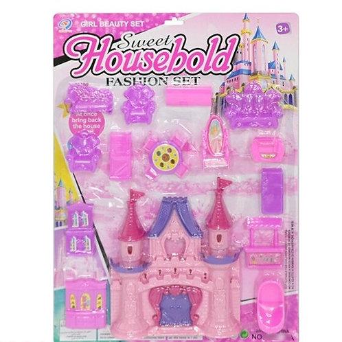 Замок для кукол с мебелью, на блист. 38*5*52 см.