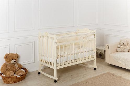 Кроватка Incanto Pali, колесо / качалка, слоновая кость