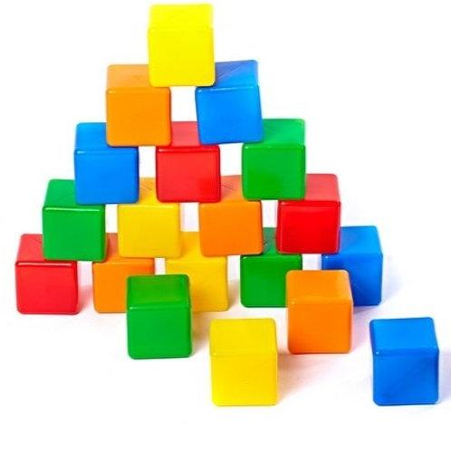Набор кубиков-2 (20 шт), в пакете, 45*36*9 см