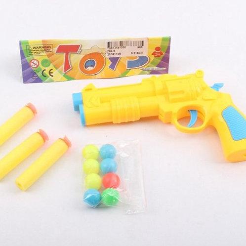 Пистолет стреляющий шариками и мягкими пулями, в/п 15*9*2 см.