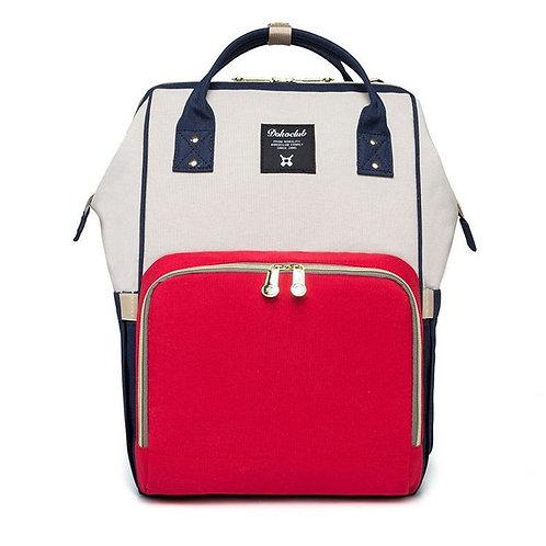 Рюкзак для мамы на коляску, серый / синий / красный