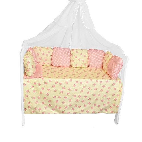 """Комплект в кроватку AB Prima """"Мороженки"""", розовый"""