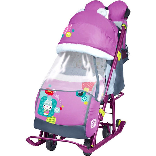 Санки-коляска Ника 7-2, фиолетовый