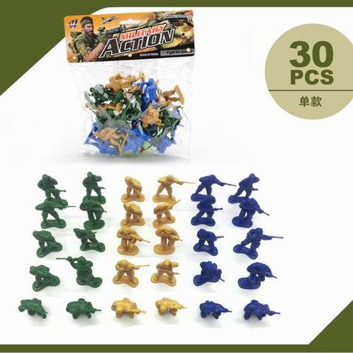 Солдатики 30 штук, в/п 18*19*4 см.