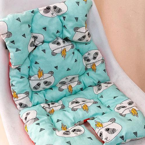 Двусторонний матрасик в прогулочную коляску Baby Eco Decor, панды