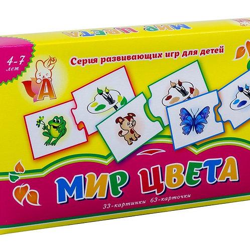 """Развивающая игра """"Мир цвета"""" с карточками, в/к 30*18*4 см"""