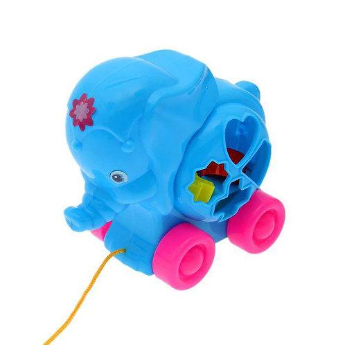 Логическая игрушка Слоник (каталка-сортер)