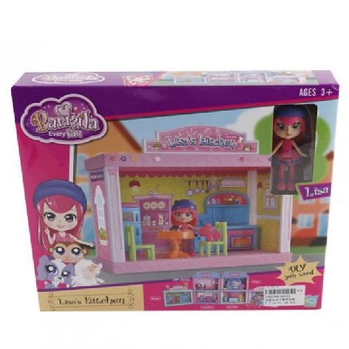 Набор мебели для кукол + кукла, в коробке 28*5*23 см