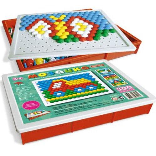 Мозаика (диаметр 13мм/300шт) прямоугольная коробка, 23*19*3 см