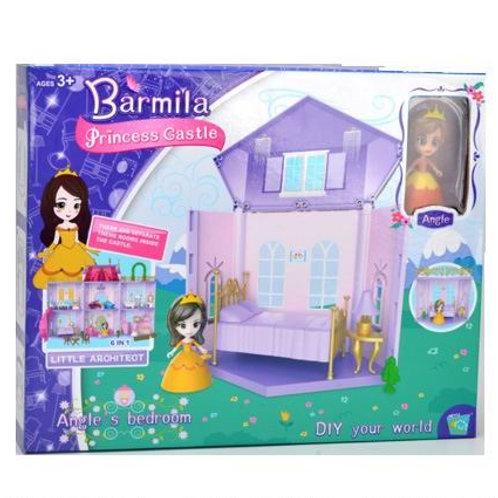 Замок для кукол 6 в 1 в комп. кукла, в/к 30,9*5,4*25,2 см.