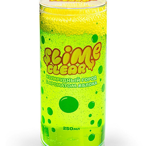 "Игрушка ТМ ""Slime"" Clear-slime ""Изумрудный город"" с ароматом яблока, 250 г."