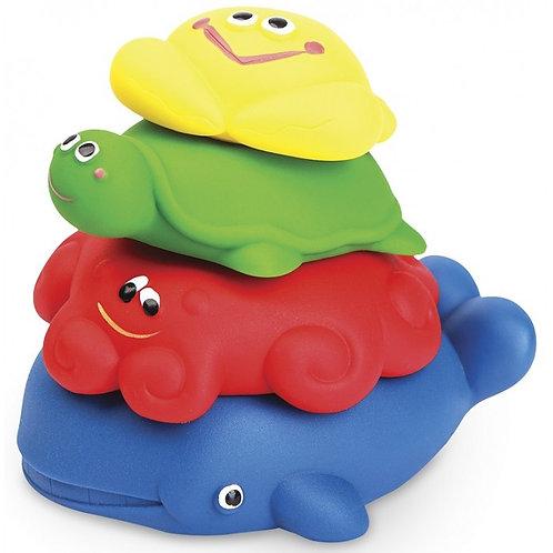 """Набор игрушек из ПВХ """"Морская пирамидка"""", в сетке, 13 см"""