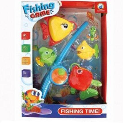 """Игра """"Рыбалка. Веселый рыбак -28"""" 5 рыбок, 1 удочка на блист."""